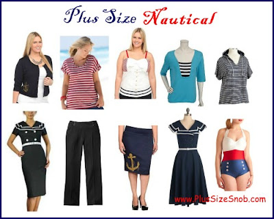 Fashionable Clothing   Size Women on Plus Size Snob  Plus Size Nautical Clothing