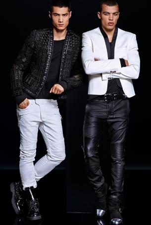 Balmain para H&M ropa hombre chaqueta pantalón