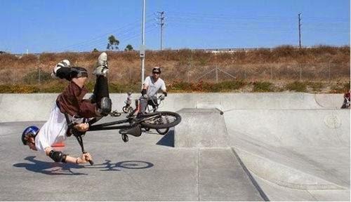 Las caidas mas enpactantes sobre la bici