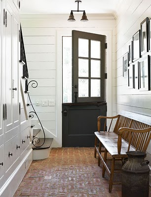 This Handsome Black Dutch Door Adds Rustic Charm And Proves That Black Doors  Can Provide Country Chic As Well As City Glam. I Love The Texture And Color  Of ...