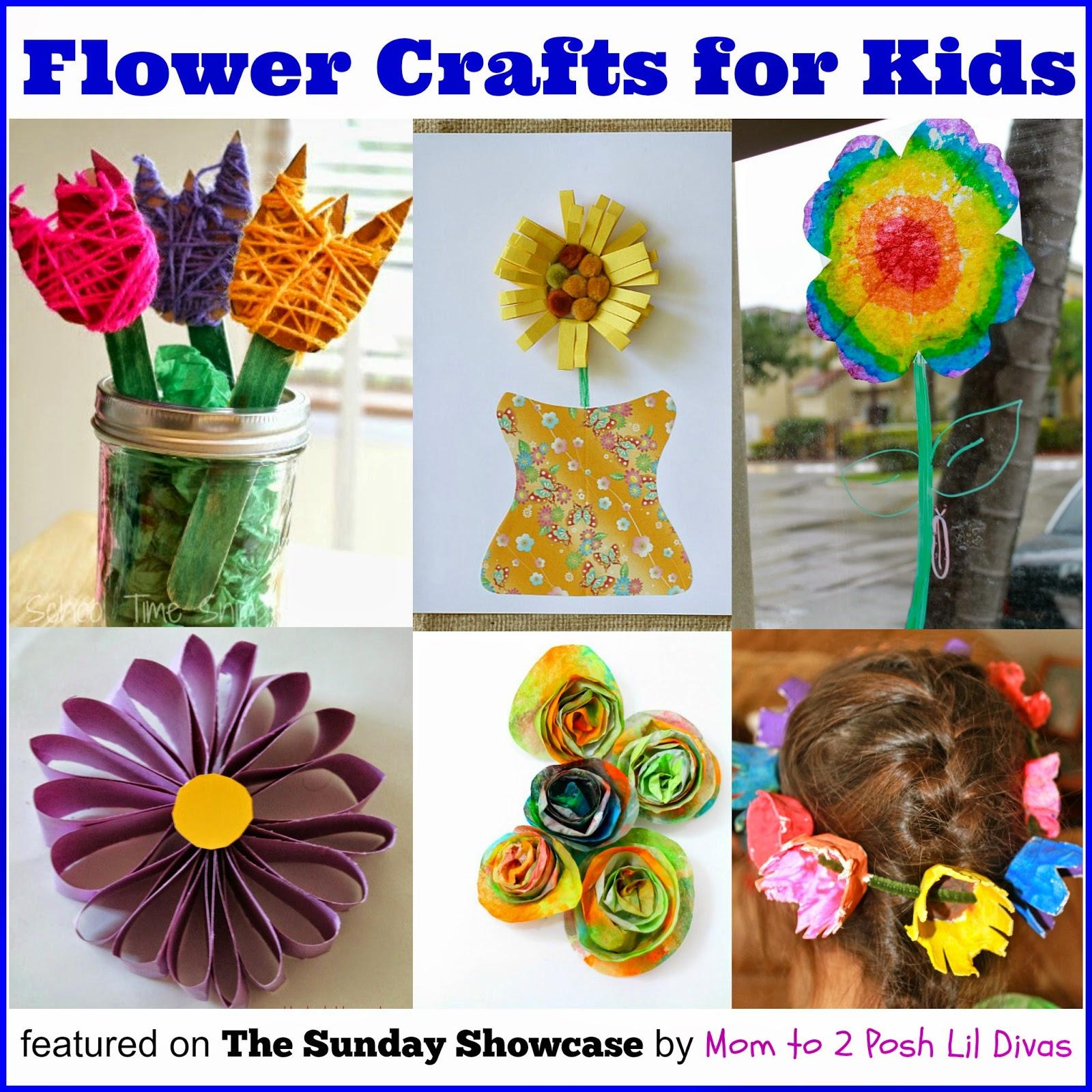 Mom To 2 Posh Lil Divas Flower Crafts For Kids The Sunday Showcase