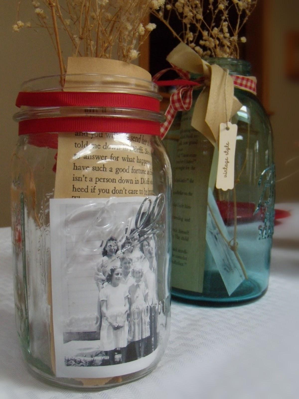 Procraftination mason jars family photos