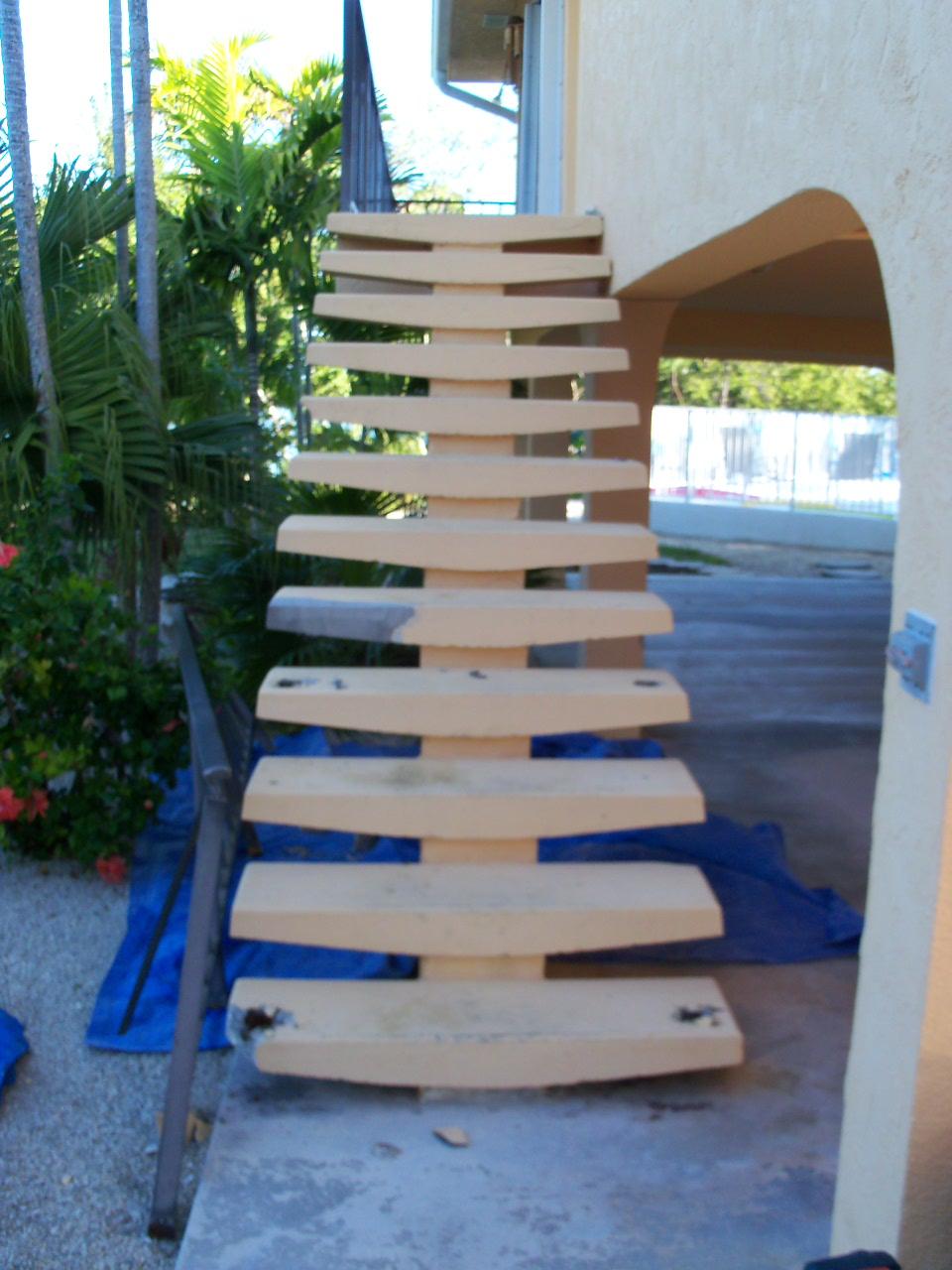 Ed sims development concrete stair repair - Resurfacing exterior concrete stairs ...