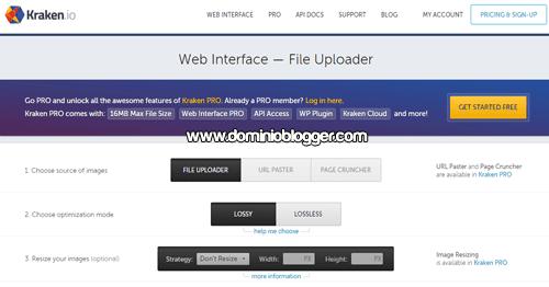 Comprime el peso de tus imagenes online con Kraken Web Interface