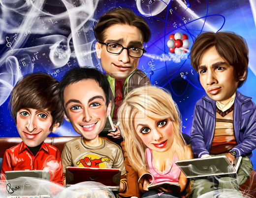 The Big Bang Theory por bouboudesign