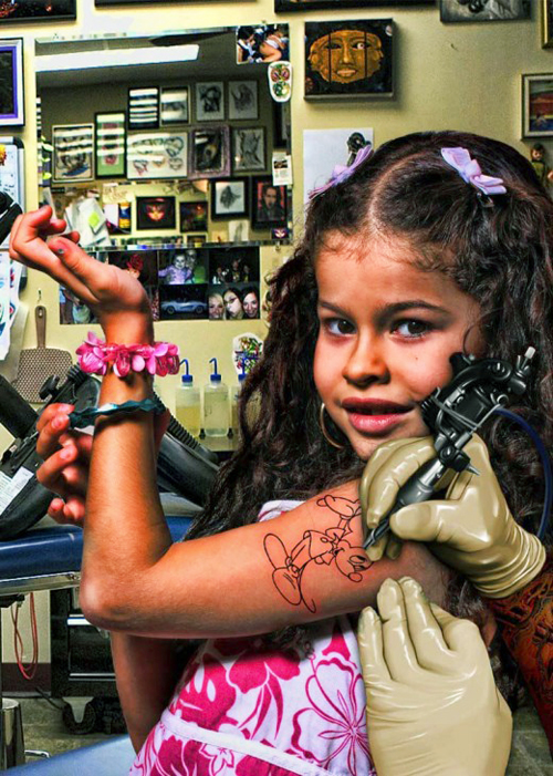 Cute little girls tattoos fashion design 2012 art designs for Little kid tattoos