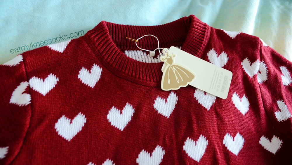 Sweetbox Store sells cute, ulzzang-style apparel, such as this wine red sweater.