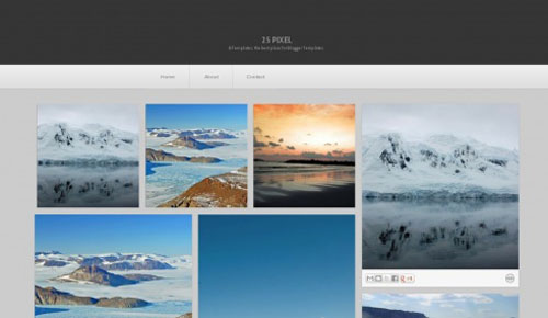 25 pixel blogger themes