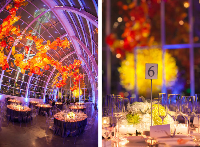 chihuly garden and glass wedding seattle event photography