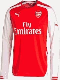 grade ori, made in thailand, jersey arsenal, home, away, musim 2014-2015, tempat jual online jersey arsenal home terbaru