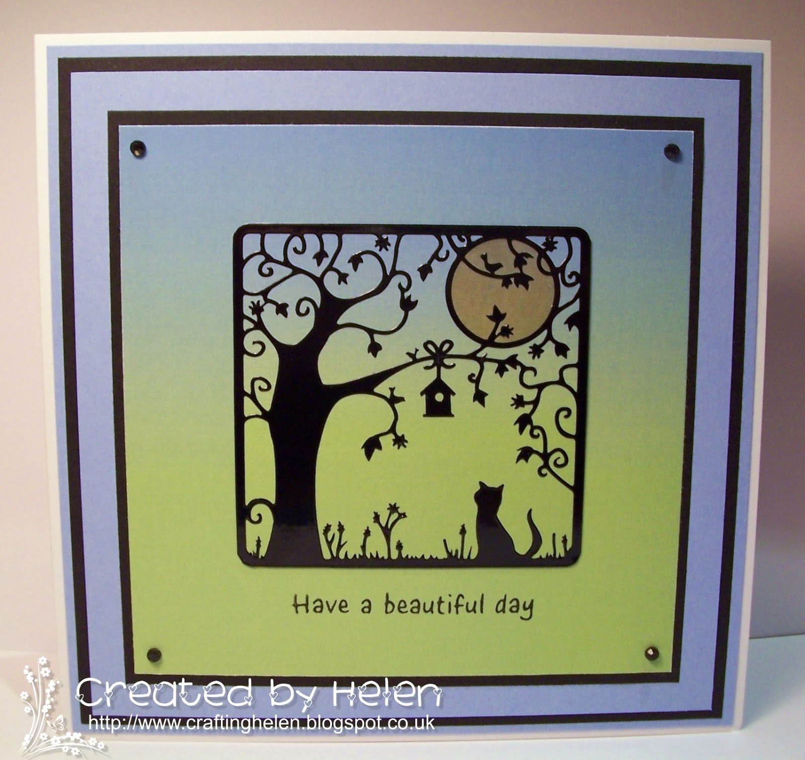 Little claires designs blog project silhouette outline sticker good morning everyone its helen n here with this weeks friday blog project and im going to show you how to make a simple scene card using one of the new jeuxipadfo Image collections