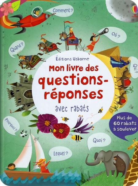 """""""Mon livre des questions-réponses - avec rabats"""" éditions Usborne"""