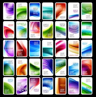 曲線の背景の名刺テンプレート color business card template