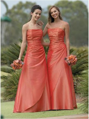 Orange Bridesmaid Dresses Have Your Dream Wedding