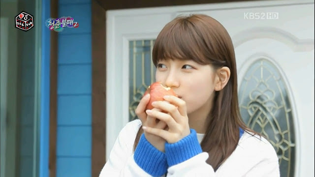 [PICTURE] Bae Suzy (Miss A) eating apple