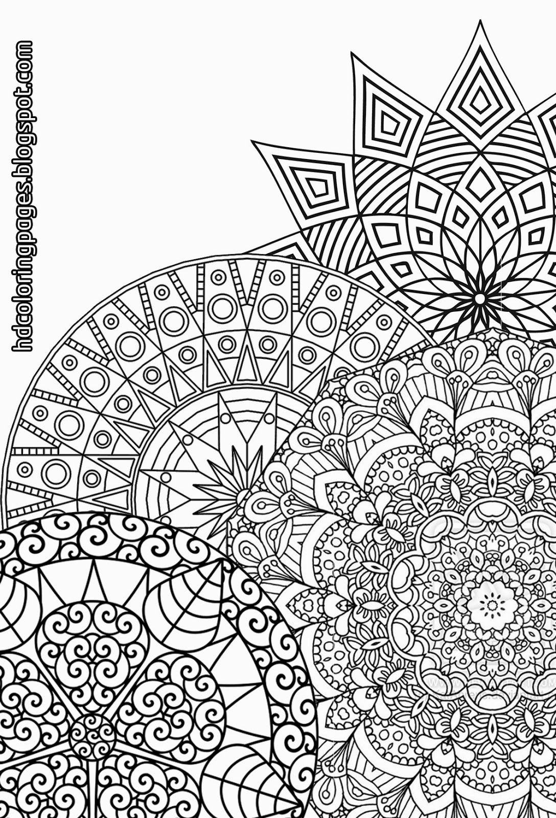 super detailed mandalas to print coloring pages for adult