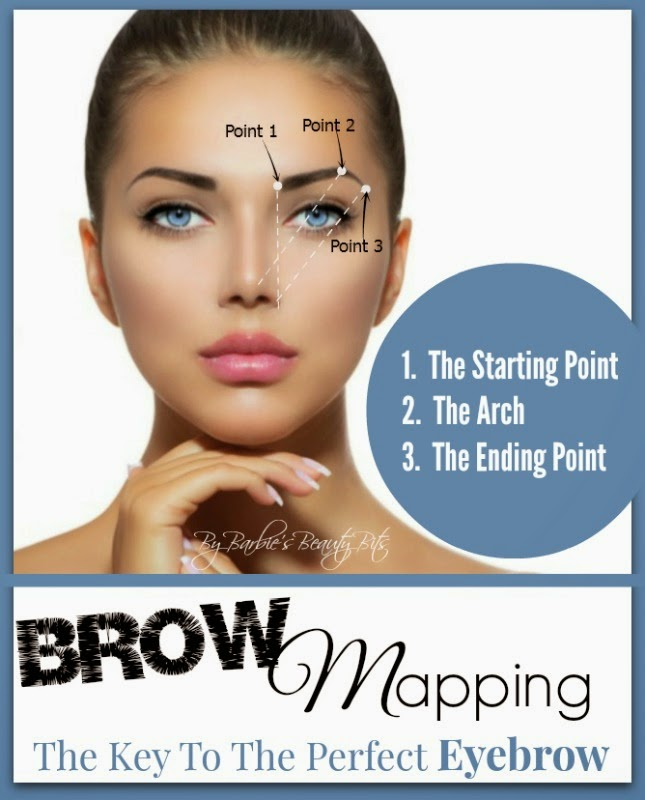 Brow Mapping, The Key To The Perfect Eyebrow By Barbie's Beauty Bits.