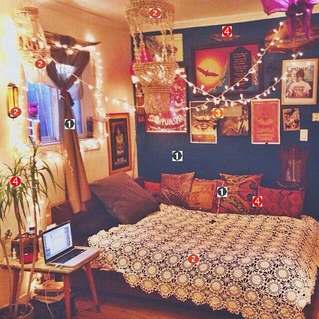 Dicas de decoração quarto hippie