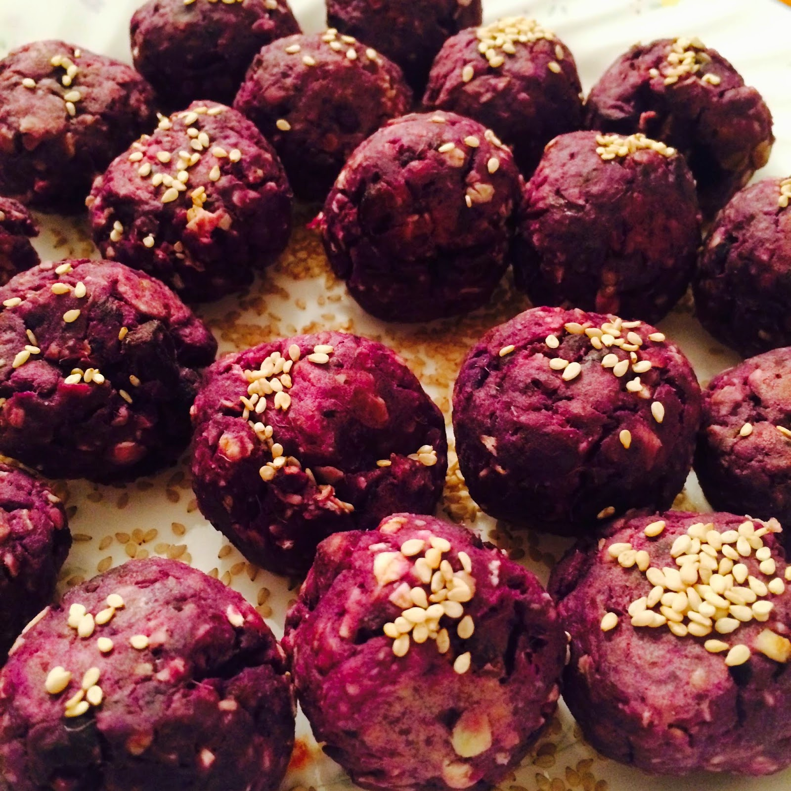 Oven Baked Purple Sweet Potato Balls Recipe