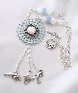 Sea Creature Tassel Necklace - click to see Aftcra listing