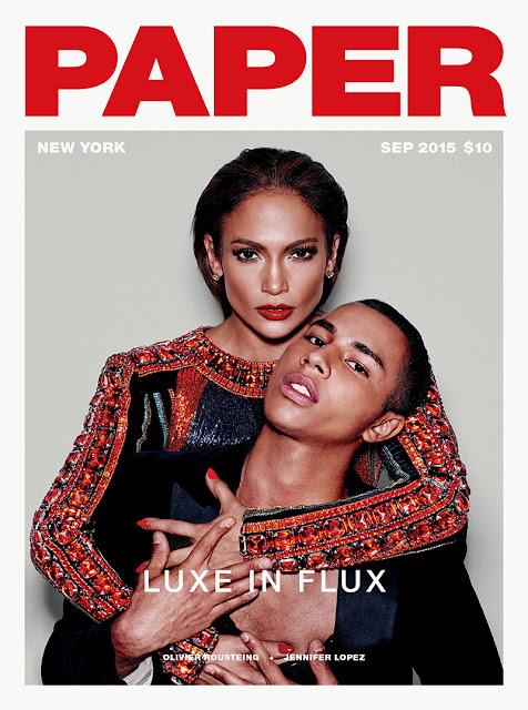 Actress, Singer @ Jennifer Lopez Paper Magazine September 2015