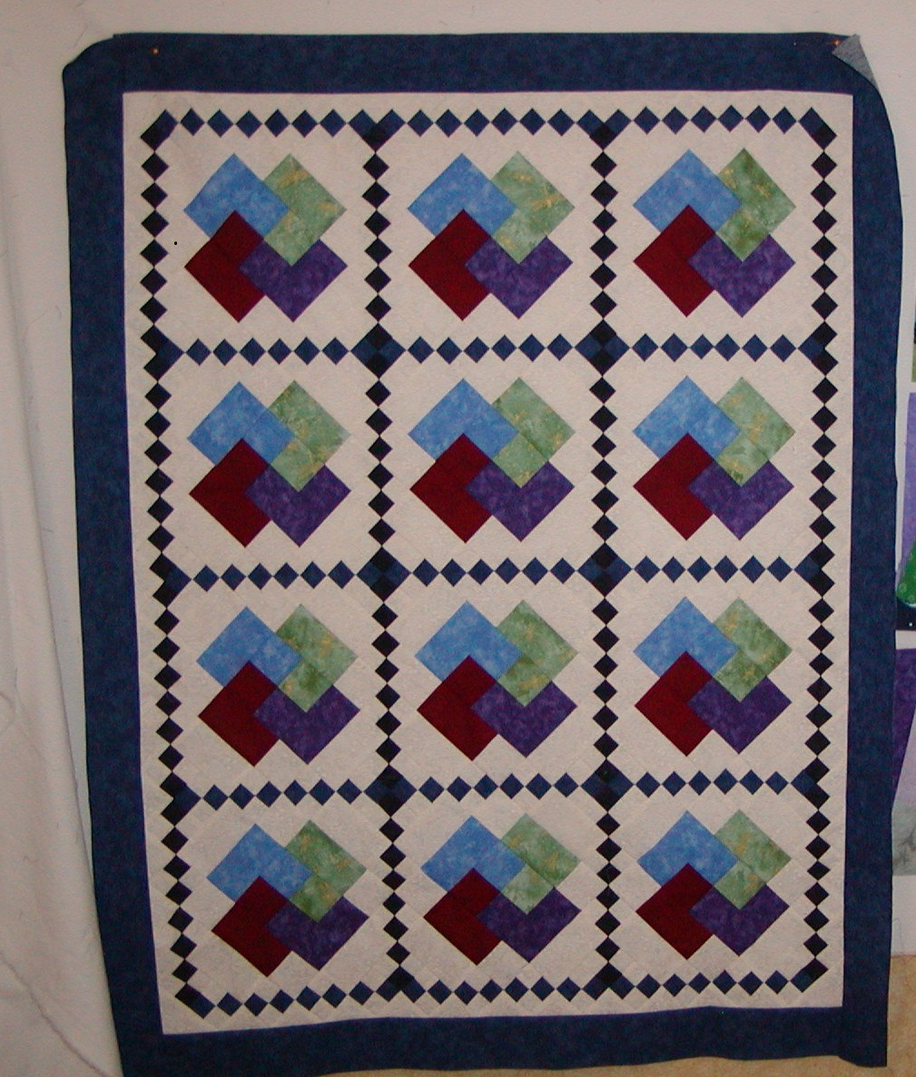 Quilting Pattern Card Trick Block : Krista Quilts: Card Trick Blocks with No Triangles
