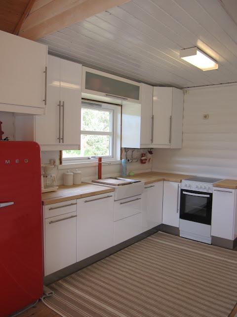 Fjordlykke: vårt nye hyttekjøkken!