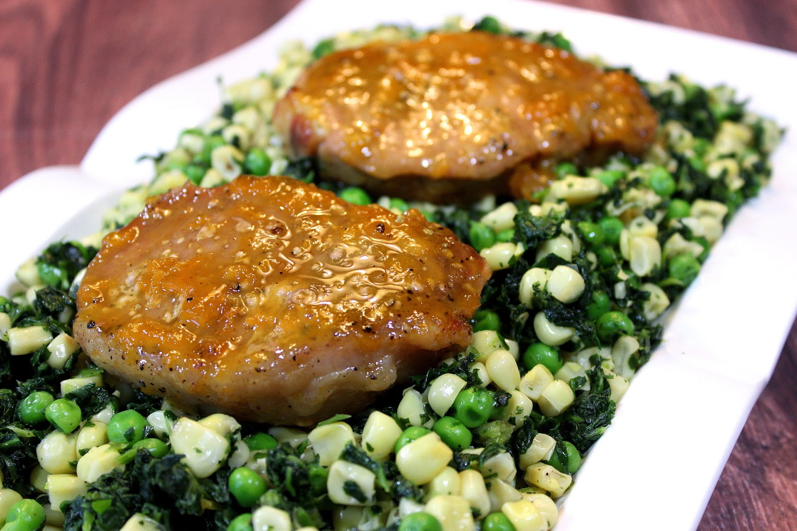 Fast and easy Apricot Mustard Glaze is made up of four simple ...