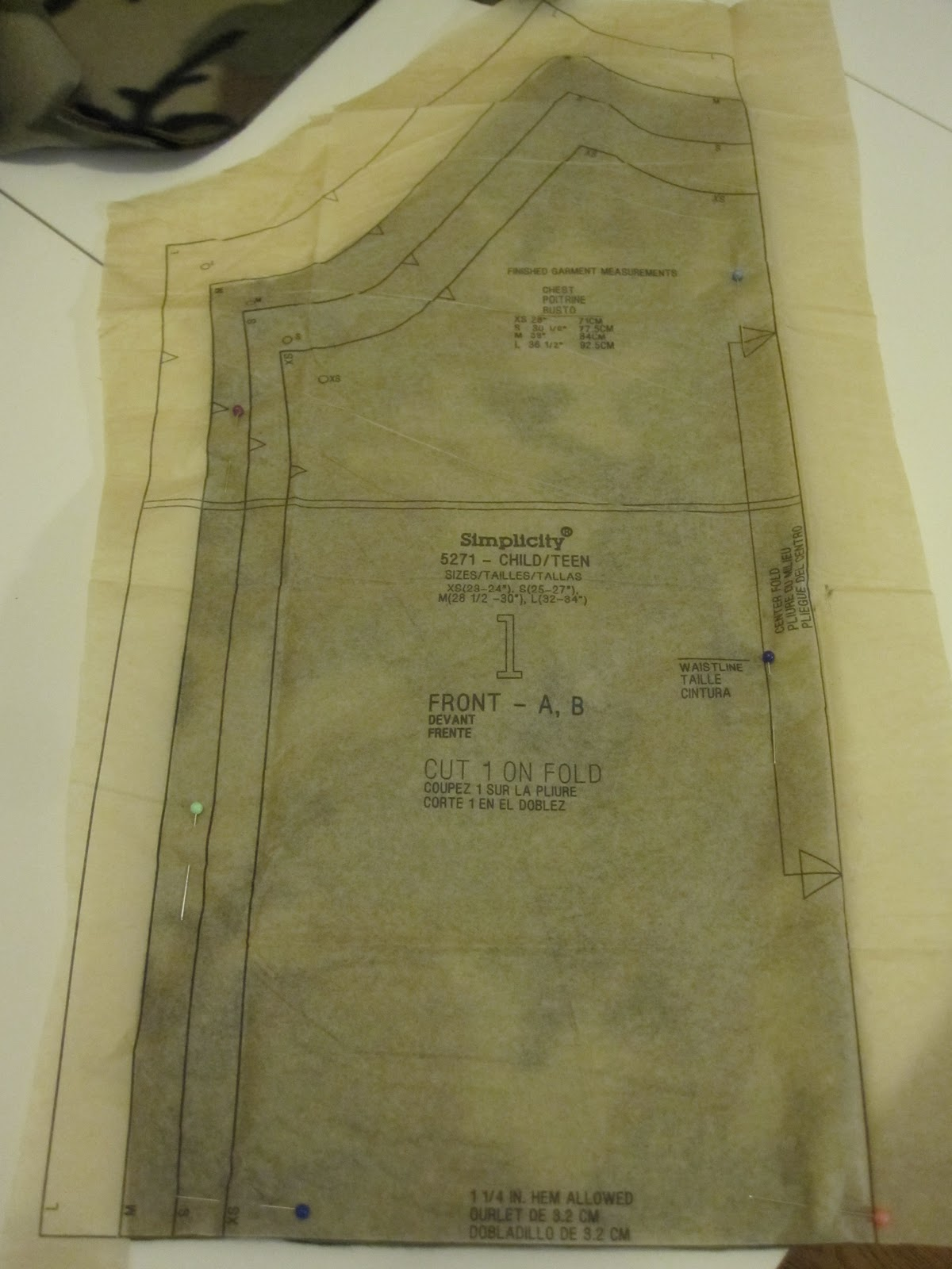 Beckys blabber how to cut different sizes from one sewing pattern you could cut the smaller size and tape it back together or buy multiple patterns or trace the different sizes onto a new sheet of tracing paper jeuxipadfo Image collections