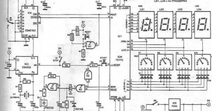 electronic timer with display circuit