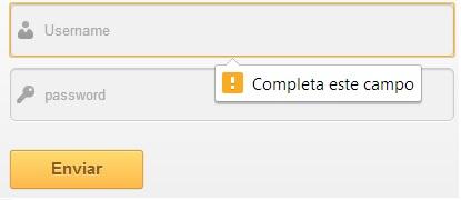 Formulario validado con HTML5