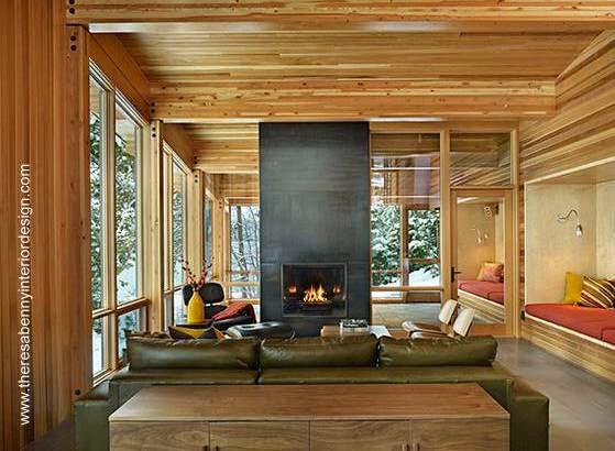 Arquitectura de casas: casa tipo cabaña moderna en suiza junto a ...