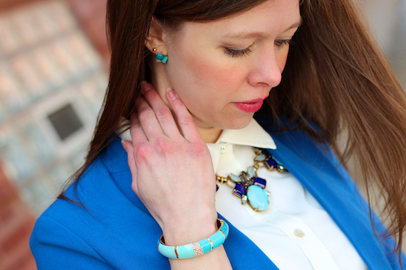 JCrew Necklace - Cobalt, Turquoise, Gold | StyleSidebar