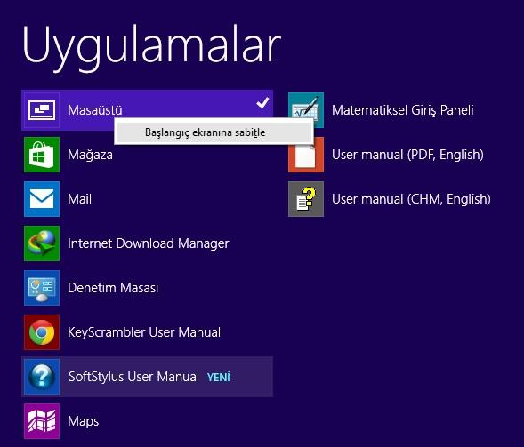 Windows 8.1 Masaüstü Kutucuğu Kayboldu Geri Getirin