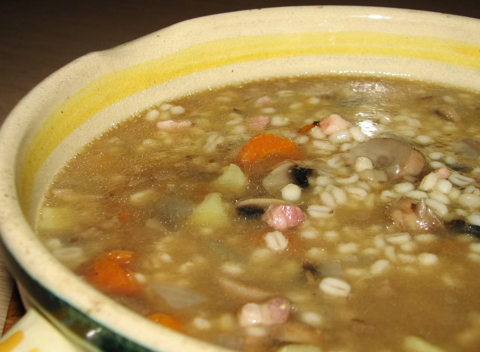 Pentola a pressione ricetta 4: Zuppa d'orzo