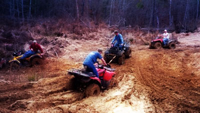 4 wheelin' around