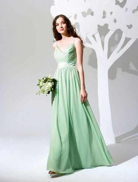 Green And White Bridesmaid Dresses - Flower Girl Dresses