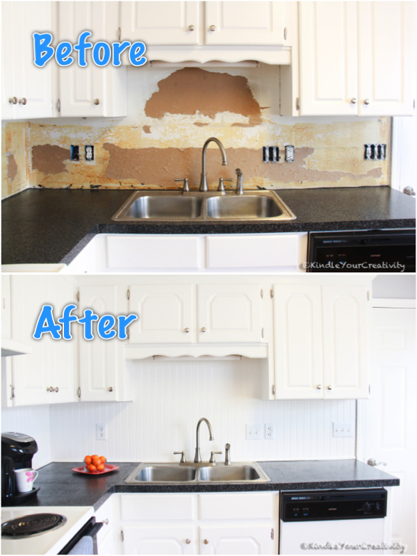 kindle your creativity: diy beadboard backsplash