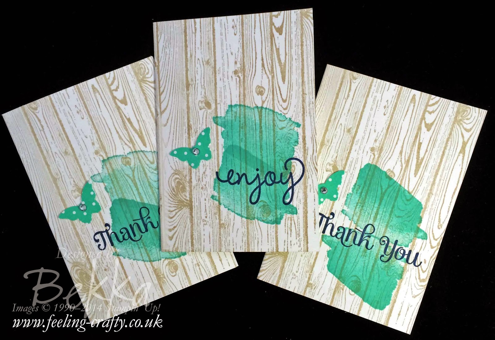 Simple Thank You Note Cards featuring Stampin' Up! Products - find out more here