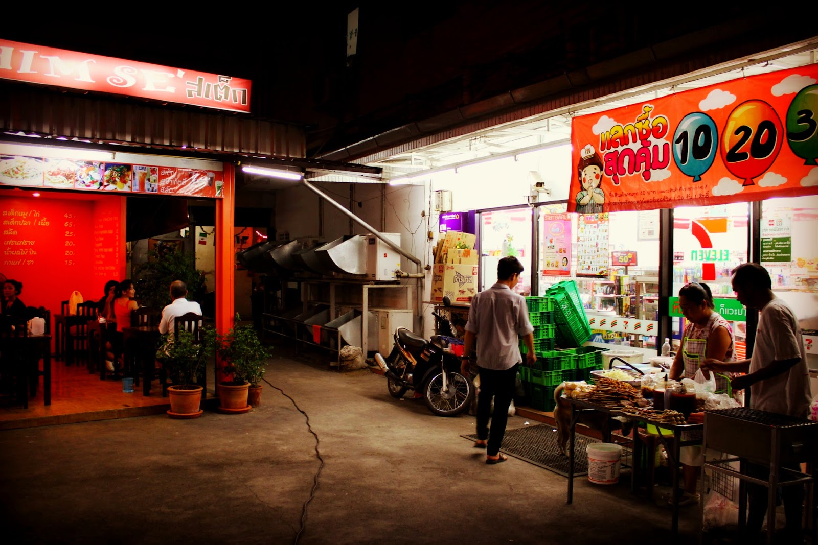 Thai takeaway street food