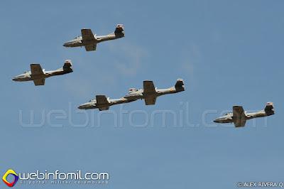 Escuadrilla de aviones de entrenamiento T-37 Tweet perteneciente al Comando Aéreo de Combate No 1
