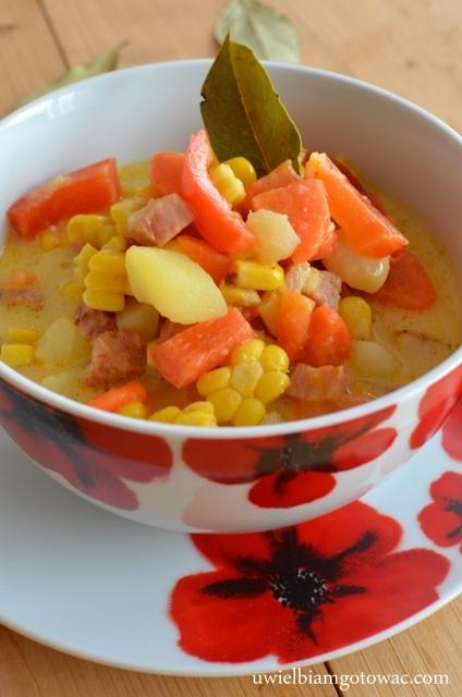 Zupa kukurydziana z boczkiem