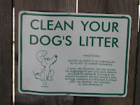SFPD Sign - Clean Up Your Dog's Litter - San Francisco CA