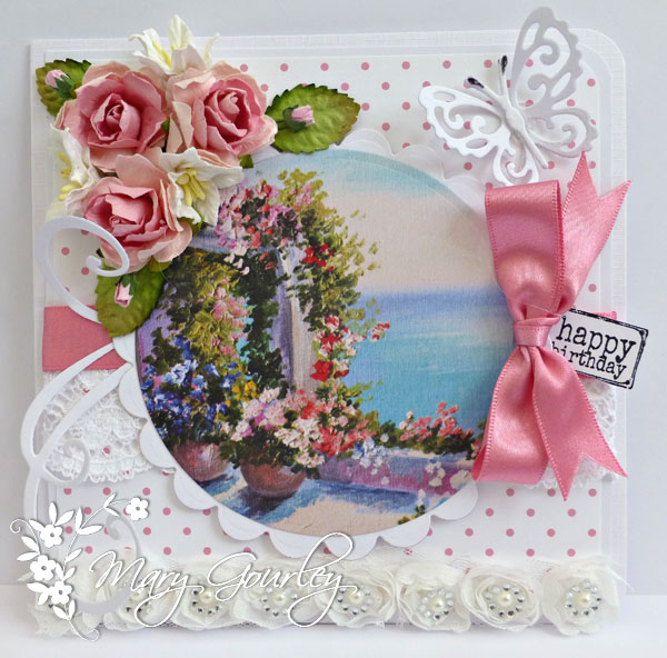 Playing With Ribbon Summer Birthday Card