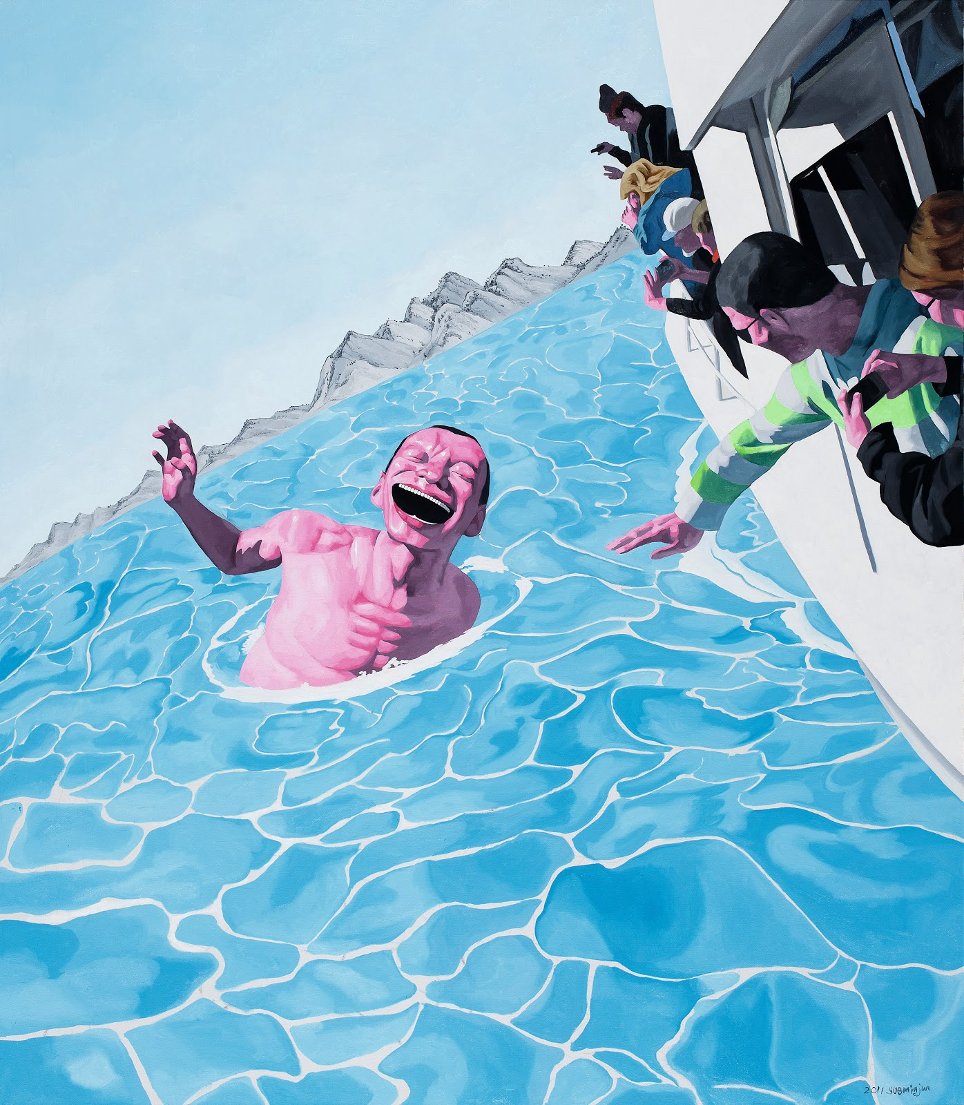 Yue Minjun Famous Painting