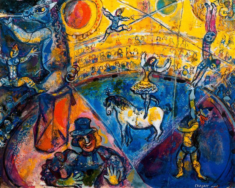 Flores y Palabras: Tres obras de Marc Chagall Chagall Crucifixion