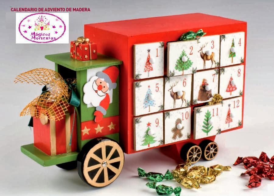 Regalos magicos momentos navidad calendario de adviento - Calendario adviento madera ...