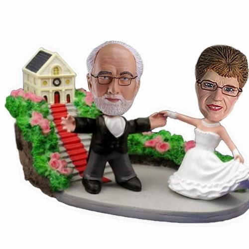 bobblehead wedding topper