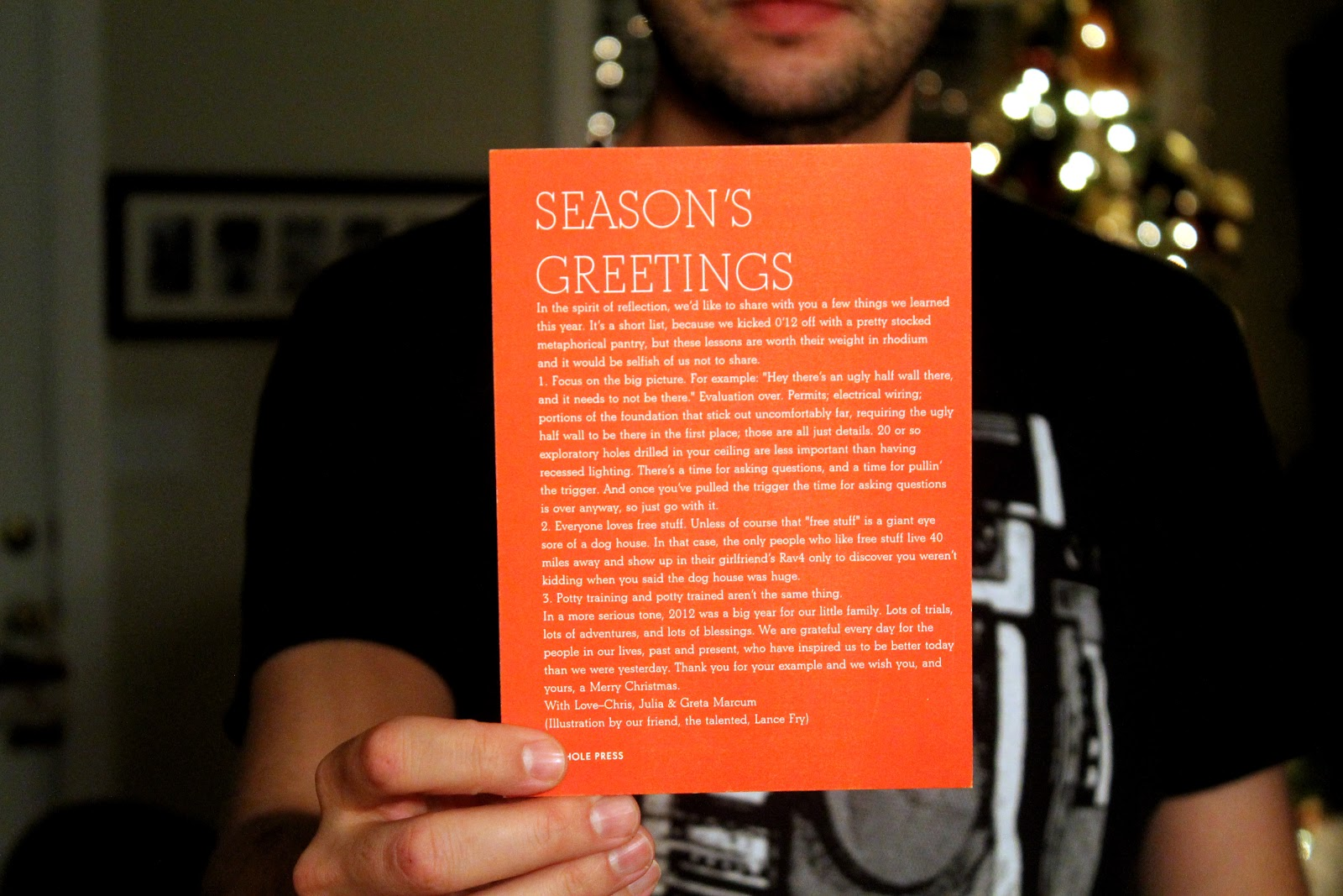 Our Seasons Greetings To You Chris Loves Julia