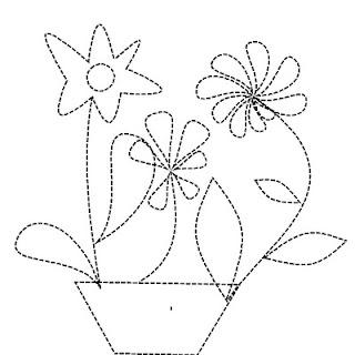 Riscos para bordados de Flores